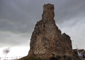 Zona centro con los restos del castillo