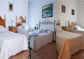 Vista conjunta de los tres dormitorios