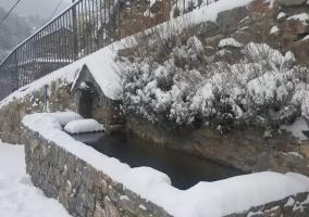Zona de la fuente en invierno