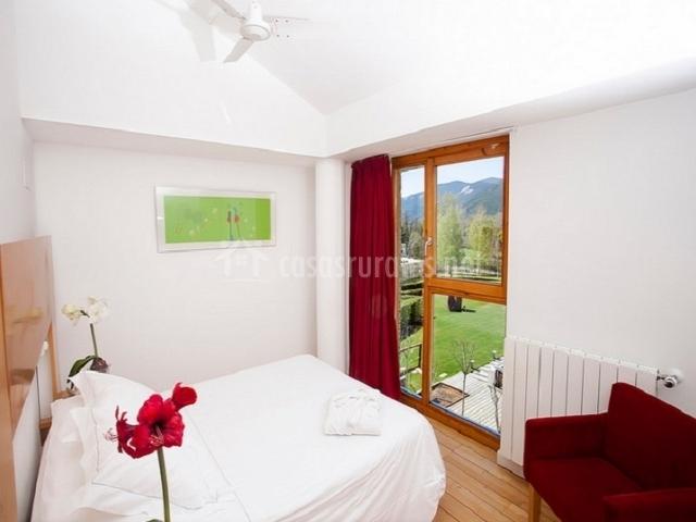 Habitaciones muy luminosas gracias a los ventanales