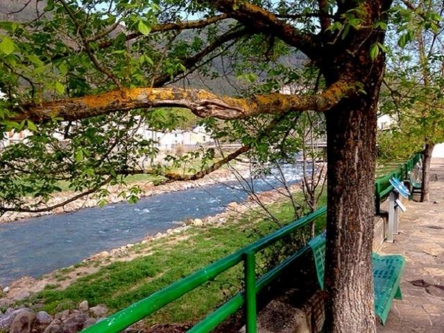Paso del río Gállego por Biescas