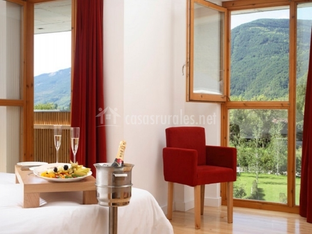 La habitación cuenta con unas vistas espectaculares
