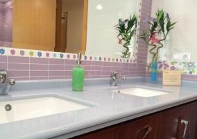Jacuzzi y lavabo de la casa