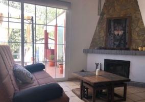 Sala de estar con salida a los exteriores