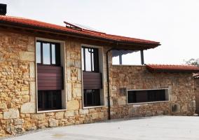 Vistas de la fachada trasera