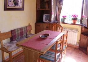 Cocina de la casa con muebles