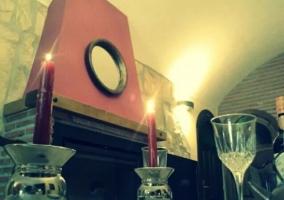 Sala de estar con juego de café
