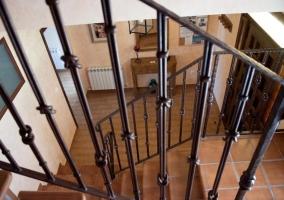 Vista de la planta inferior desde la escalera
