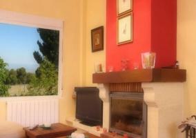 Sala de estar comunicada con el comedor