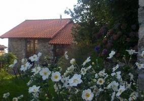 Vistas de la fachada con los jardines