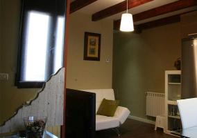 Sala de estar vista desde la entrada