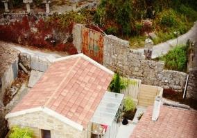 Vistas de la casa desde un espacio elevado