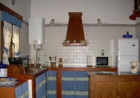 Cocina con barra en la casa
