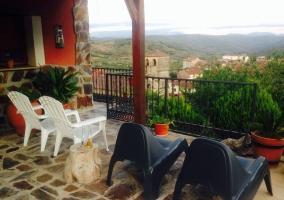 Vistas desde la terraza con las sillas