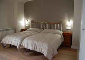 Dormitorio 3 con un par de camas individuales