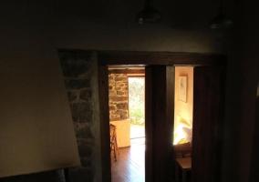 Sala de estar y la chimenea