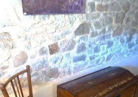 Detalles de la casa con muebles de madera