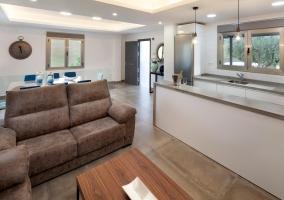 Sala de estar y la cocina