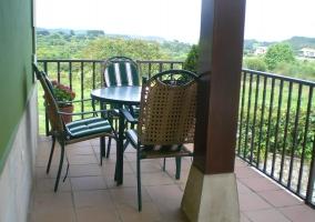 Vistas de la terraza completa
