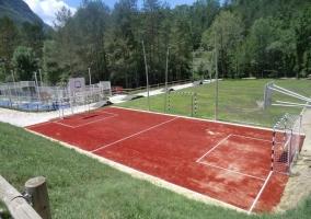 Vistas de las instalaciones deportivas en el exterior
