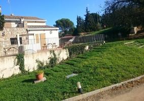 Vistas de las zonas verdes de la casa