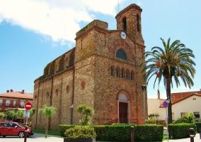 Zona de la iglesia en Palafolls