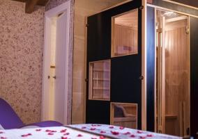 Sauna en el dormitorio