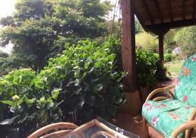 Acceso a los alojamientos con jardines
