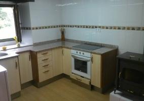 Cocina de la casa con armarios
