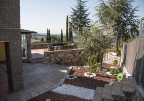 Vistas de las zonas exteriores de la casa