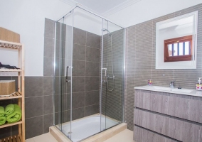 House toilet with shower