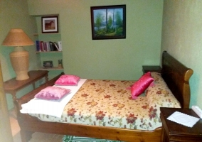 Double bedroom with bedside table