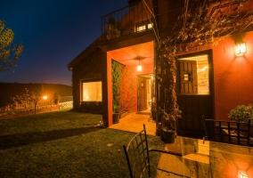 Vistas del porche por la noche