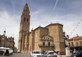 Church and plaza area
