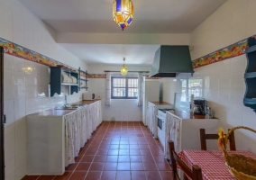 Large kitchen of the house