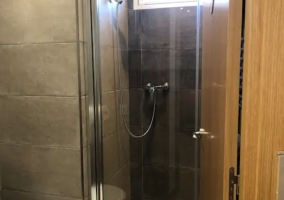 Toilet of the house with the shower