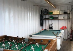 Leisure room with billiard