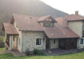 Vista exterior de la casa rural