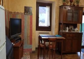 Sala de estar con detalles