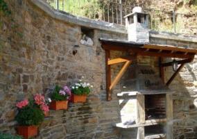 Mesa de jardín al aire libre
