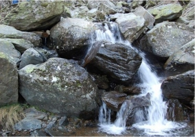 Detalle de la cascada