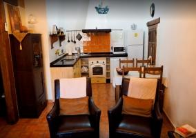 Cocina integrada a la sala de estar