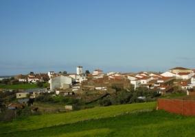 El pueblo desde la carretera
