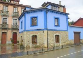 La fachada de la casa