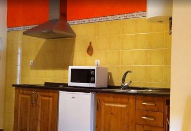 Cocina de la casa con campana extractora