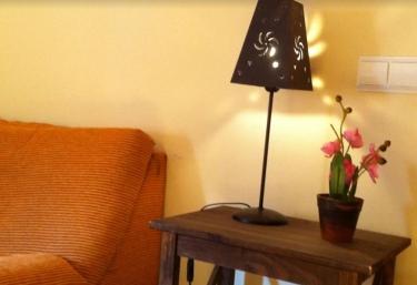 Sala de estar con plantas