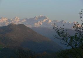Zona natural con paisajes nevados