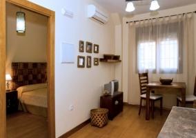 Salón y dormitorio matrimonial