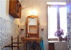 Cuarto de baño de la casa rural