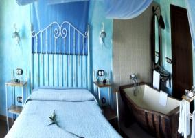 Habitación individual en tonos verdes